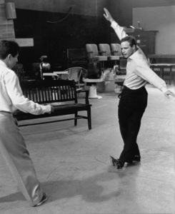 """Guys and Dolls""Marlon Brando rehearses with choreographer Michael Kidd1955 © 1978 Bob Willoughby - Image 9244_0068"