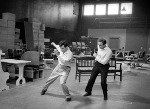 """Guys and Dolls"" Marlon Brando rehearses with choreographer Michael Kidd 1955 © 1978 Bob Willoughby - Image 9244_0075"