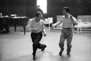 """Guys and Dolls"" Marlon Brando rehearses with choreographer Michael Kidd 1955 © 1978 Bob Willoughby - Image 9244_0076"
