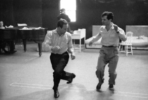 """Guys and Dolls"" Marlon Brando rehearses with choreographer Michael Kidd 1955 © 1978 Bob Willoughby - Image 9244_0076"