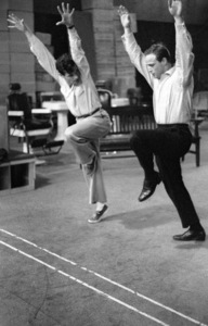 """Guys and Dolls"" Marlon Brando rehearses with choreographer Michael Kidd 1955 © 1978 Bob Willoughby - Image 9244_0077"