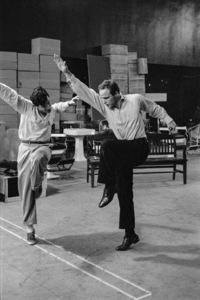 """Guys and Dolls"" Marlon Brando rehearses with choreographer Michael Kidd 1955 © 1978 Bob Willoughby - Image 9244_0100"