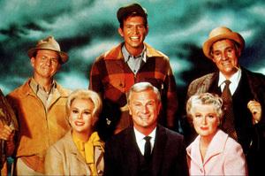 """Green Acres""E. Gabor, E. Albert, A. Moore, T. Lester,P. Buttram1968 CBSPhoto by Gabi RonaMPTV - Image 9271_0001"