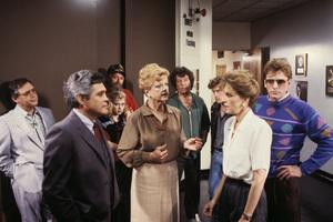 """Murder, She Wrote"" (Episode: Murder, She Spoke)G.W. Bailey, Angela Lansbury, Michael Cole1987© 1987 Gene Trindl - Image 9294_0010"