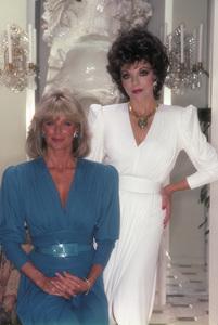 """""""Dynasty"""" Linda Evans, Joan Collins1985© 1985 Mario Casilli - Image 9295_0061"""
