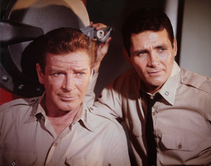""""""" Voyage to the Bottom of the Sea""""Richard Basehart and  David Hedisoncirca 1964 © Irwin Allen Properties, LLC and Twentieth Century Fox Film Corporation. All rights reserved - Image 9298_0064"""