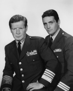 """ Voyage to the Bottom of the Sea""Richard Basehart and David Hedison circa 1964 © Irwin Allen Properties, LLC and Twentieth Century Fox Film Corporation. All rights reserved - Image 9298_0080"