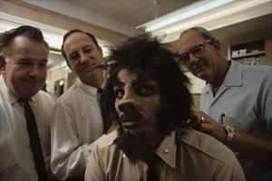 """Voyage to the Bottom of the Sea"" (Episode: Man-Beast)John Chambers (top specialist of 20th Century-Fox makeup dept.), Dan Striepeke (head of the 20th Century-Fox makeup dept.), David Hedison1967© 1978 Gene Trindl - Image 9298_0119"