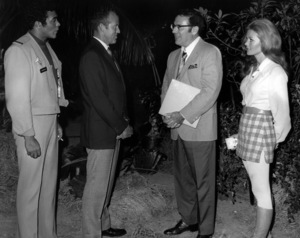 """Land of the Giants"" Don Marshall, Gordon Cooper, Irwin Allen, Deanna Lund circa 1969 ** I.A. © IAPLLC and TCFFC. All Rights Reserved - Image 9299_0082"