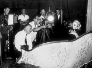 """""""To Catch A Thief,""""Director Alfred Hitchcock, Cary Grant,and Grace Kelly.1955 Paramount - Image 9339_0027"""
