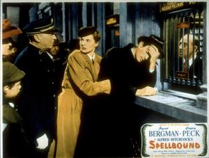 """Spellbound,""Gregory Peck, Ingrid Bergman.Lobby Card.1945 United Artists - Image 9340_0009"