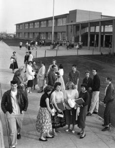 """""""Schools""""Reseda High School in Reseda, CA1956 © 1978 Sid Avery - Image 9351_0011"""
