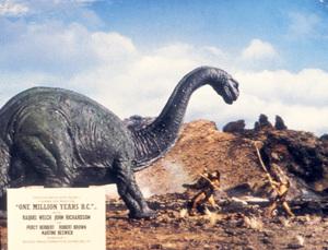 """One Million Years B.C.""Lobby Card © 1966 Hammer - Image 9359_0012"