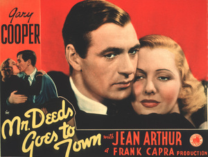 """Mr. Deeds Goes to Town""Gary Cooper, Jean Arthur1936 ColumbiaLobby Card - Image 9422_0011"