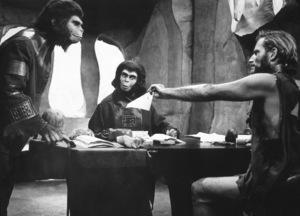 """Planet Of The Apes""Roddy McDowall, Kim Hunter, Charlton Heston © 1968 20th Century Fox - Image 9436_0016"