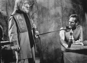 """Planet Of The Apes""Maurice Evans, Charlton Heston © 1968 20th Century Fox - Image 9436_0032"