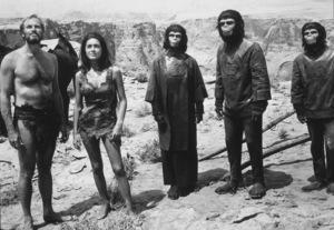 """Planet Of The Apes""Charlton Heston, Linda Harrison, Kim Hunter,and Roddy McDowall.1968 20th Century Fox**I.V. - Image 9436_0051"