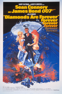 """""""Diamonds Are Forever"""" (Poster)1971 United Artists** I.V. - Image 9450_0029"""
