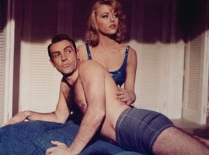 """Goldfinger,""Sean Connery, Margaret Nolan1964 UA / MPTV - Image 9455_0002"