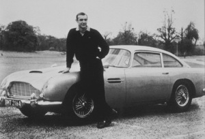 """Goldfinger""Sean Connery with the Aston Martin DB51964UA - Image 9455_0004"