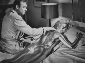 """Goldfinger,""Sean Connery, Shirley Eaton © 1964 UA / MPTV - Image 9455_0005"