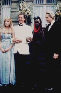 """A View To A Kill,"" Tanya Roberts,Roger Moore, Grace Jones, Christopher Walken © 1985 MGM / UA - Image 9456_0005"