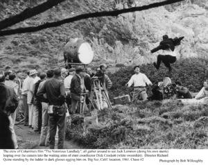 """Notorious Landlady""Jack Lemmon, Dir. Richard Quine, stunt coordinator Dick Crockett.1962 Columbia © 1978 Bob Willoughby - Image 9459_0033"