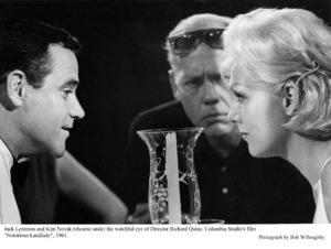 """Notorious Landlady""Jack Lemmon, Dir. Richard Quine and Kim Novakduring rehearsals. 1962 Columbia © 1978 Bob Willoughby - Image 9459_0034"