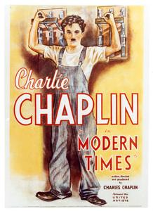 """""""Modern Times""""Poster1936 United Artists**I.V. - Image 9463_0008"""