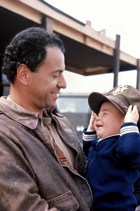 """""""Catch-22""""Alan Arkin and baby Anthony1970 Paramount © 1978 Bob Willoughby - Image 9488_0021"""