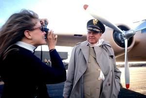 """Candice Bergen photographing Orson Welles on the """"Catch-22"""" location in Guaymas, Mexico1969 © 1978 Bob Willoughby - Image 9488_0027"""