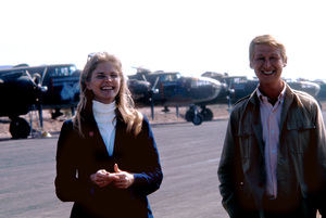 """Candice Bergen visiting Mike Nichols on the """"Catch-22"""" location in Guaymas, Mexico1969 © 1978 Bob Willoughby - Image 9488_0029"""