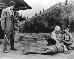 """River Of No Return""Rory Calhoun, Robert Mitchum, Marilyn Monroe and Tommy Rettig.1954 / 20th Century Fox**R.C. - Image 9550_0026"