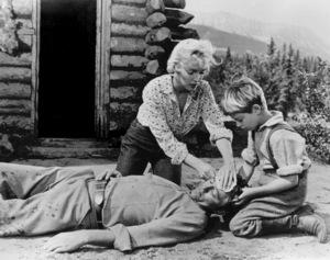 """River Of No Return""Robert Mitchum, Marilyn Monroe, Tommy Rettig1954 / 20th Century Fox**R.C. - Image 9550_0036"