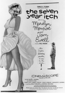 """""""Seven Year Itch, The"""" Poster.Marilyn Monroe1955 / 20th Century Fox - Image 9554_0001"""