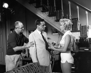 """The Seven Year Itch""Director Billy Wilder, Tom Ewell, Marilyn Monroe1955 20th Century Fox** I.V. - Image 9554_0063"