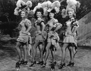 """Ticket To Tomahawk, A""Marion Marshall, Barbara Smith, Joyce McKenzieand Marilyn Monroe.  1950 / 20th Century Fox**R.C. - Image 9561_0007"