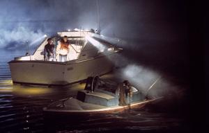 """""""Jaws"""" Roy Scheider, Richard Dreyfuss 1975 UniversalPhoto by Bud Gray - Image 9575_0008"""