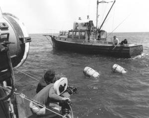 """Jaws""Steven Speilberg, Richard Dreyfuss and Roy Scheider1974 Universal**I.V. - Image 9575_0030"