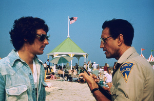 """""""Jaws""""Director Steven Spielberg, Roy Scheider1975 Universal Pictures - Image 9575_0052"""