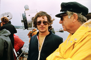"""Jaws""Director Steven Spielberg, producer David Brown1975 Universal Pictures - Image 9575_0059"