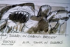 """""""Jaws"""" (storyboard)1975** I.V. - Image 9575_0218"""