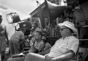"""Oklahoma!""Director Fred Zinnemann, Oscar Hammerstein II1955© 1978 Bob Willoughby - Image 9577_0009"