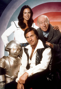 """""""Buck Rogers in the 25th Century""""Erin Gray, Gil Gerard, Wilfred Hyde-White1979 NBCPhoto by Herb BallMPTV - Image 9641_0020"""
