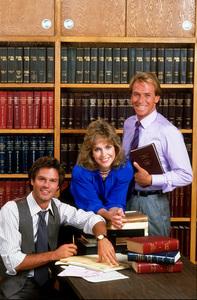 """L.A. Law""Harry Hamlin, Jill Eikenberry,Corbin Bernsen1987 ABC © 1987 Gene TrindlMPTV - Image 9674_0057"