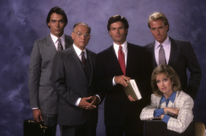 """L.A. Law""Jimmy Smits, Richard Dysart, Harry Hamlin, Corbin Bernsen, Jill Eikenberry1986© 1986 Mario Casilli - Image 9674_0104"