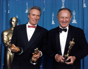 """""""Academy Awards: 65th Annual""""Clint Eastwood and Gene Hackman1993 © 1993 AMPAS/LPI - Image 9677_0010"""