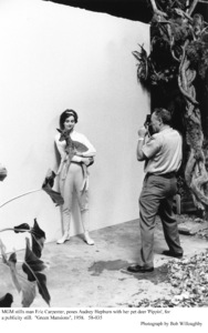 """Green Mansions""Audrey Hepburn, pet Pippin, stills man Eric Carpenter 1958 / MGM(c) 1978 Bob Willoughby - Image 9687_0160"