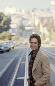 """Michael Douglas in San Francisco during the making of """"The Streets of San Francisco""""1973 © 1978 Gunther - Image 9724_0019"""