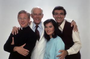 """After MASH""William Christopher, Harry Morgan, Rosalind Chao, Jamie Farr1983 © 1983 Mario Casilli - Image 9740_0014"